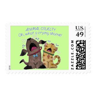 Vergüenza de griterío gritadora del perro y del timbre postal
