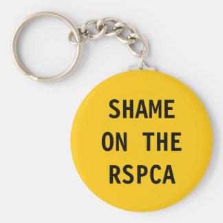 Vergüenza del llavero en el RSPCA