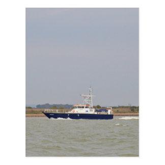 Verificador del barco de la encuesta tarjetas postales