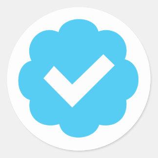 Verified Account Symbol Classic Round Sticker
