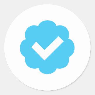 Verified Account Symbol Round Sticker