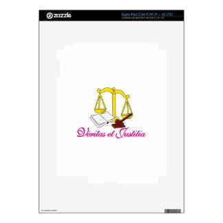 Veritas et Justitia Skins For iPad 3