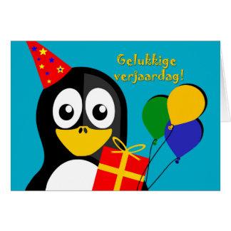 ¡Verjaardag de Gelukkige! Cumpleaños en el Tarjeta De Felicitación