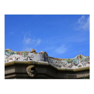 Verjas del mosaico en el parque Guell de Gaudi Tarjetas Postales