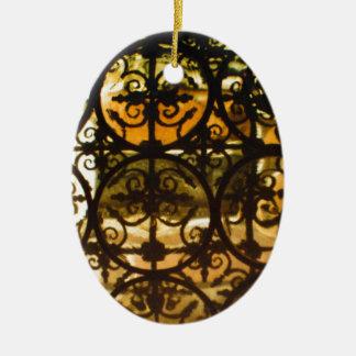 Verjas típicamente españolas decorativas adorno navideño ovalado de cerámica