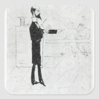 Verlaine teaching at the Institution Square Sticker
