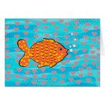 Verliebte Fische Grußkarte