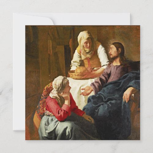 Vermeer - Christ in the House of Martha and Mary Card