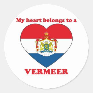 Vermeer Classic Round Sticker