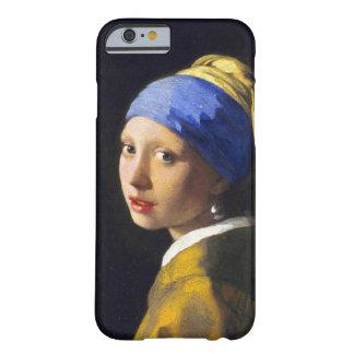 ~ Vermeer del pendiente de la perla del chica w Funda De iPhone 6 Barely There