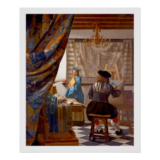 Vermeer - el arte de la pintura - arte del vintage impresiones