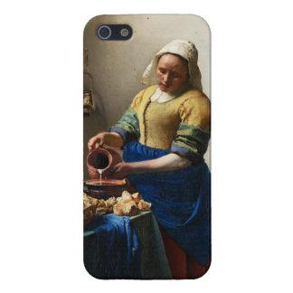 Vermeer el caso del iPhone 5 de la lechera iPhone 5 Fundas