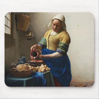 Vermeer el cojín de ratón de la lechera alfombrilla de ratón