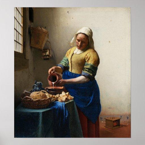 Vermeer el poster de la lechera
