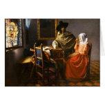 Vermeer el vidrio de la tarjeta de felicitación de
