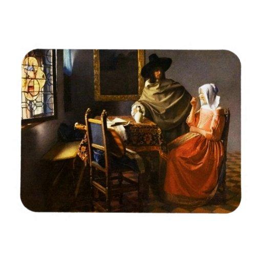 Vermeer el vidrio del imán del vino