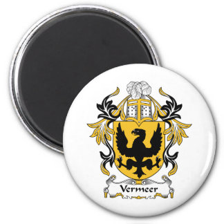 Vermeer Family Crest 2 Inch Round Magnet
