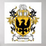 Vermeer Family Crest Poster