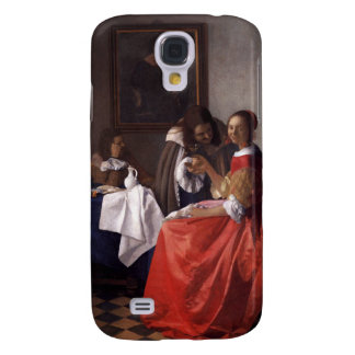 Vermeer - Girl and Two Gentlemen Painting Samsung Galaxy S4 Covers