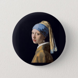 Vermeer - Girl with a Pearl Earring Button