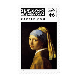 Vermeer Girl with a Pearl Earring Fine Art Postage