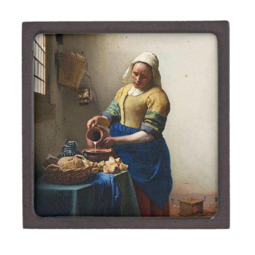 Vermeer la caja de regalo de la lechera cajas de regalo de calidad