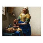 Vermeer la postal de la lechera