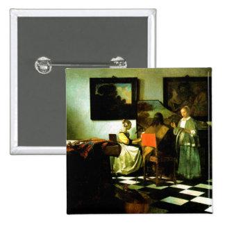 Vermeer: Las ilustraciones del concierto Pin Cuadrado