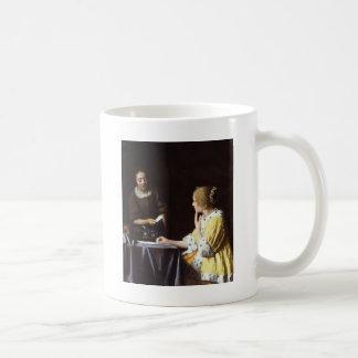 Vermeer - Mistress and Maid 1666-67 Coffee Mug