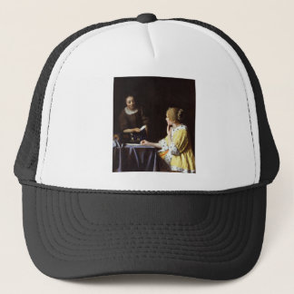 Vermeer - Mistress and Maid 1666-67 Trucker Hat