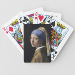 Vermeer Painting - Girl With a Pearl Earring Bicycle Playing Cards