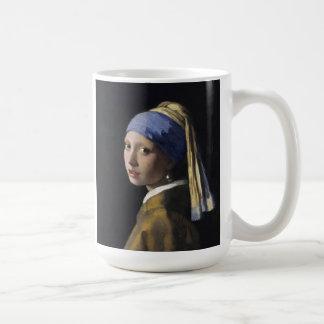 Vermeer Painting - Girl With a Pearl Earring Mugs