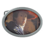 Vermeer Painting - Girl with a Red Hat Oval Belt Buckles