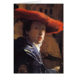 Vermeer Painting - Girl with a Red Hat Card