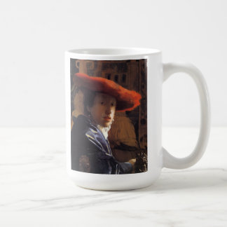 Vermeer Painting - Girl with a Red Hat Coffee Mug