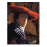 Vermeer Painting - Girl with a Red Hat Postcards