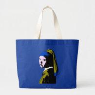 Vermeer' Pearl Earring  ala Jumbo Tote Bag