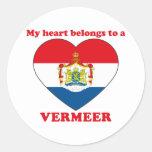 Vermeer Pegatina Redonda