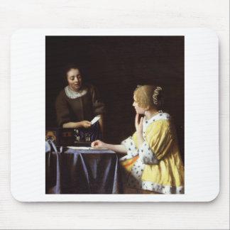 Vermeer - señora y criada 1666-67 tapete de ratones
