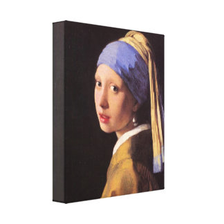 Vermeer - The girl with the pearl earring Canvas Print