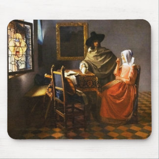 Vermeer The Glass of Wine Mouse Pad