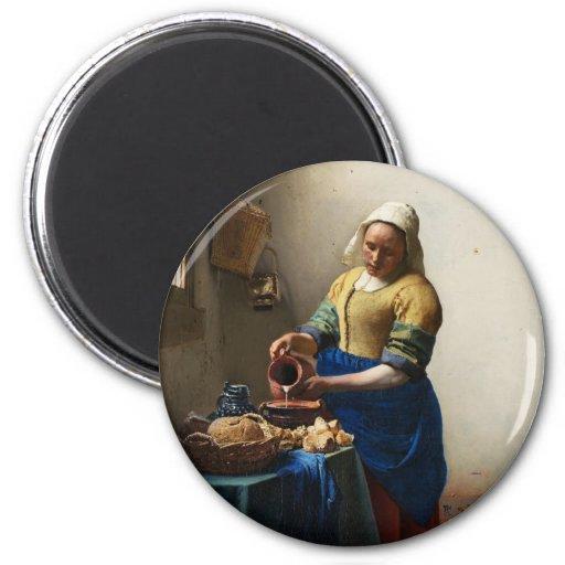 Vermeer The Milkmaid Magnet