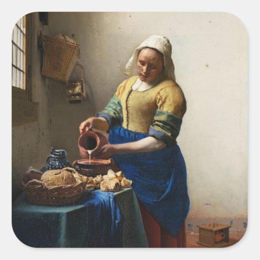 Vermeer The Milkmaid Stickers