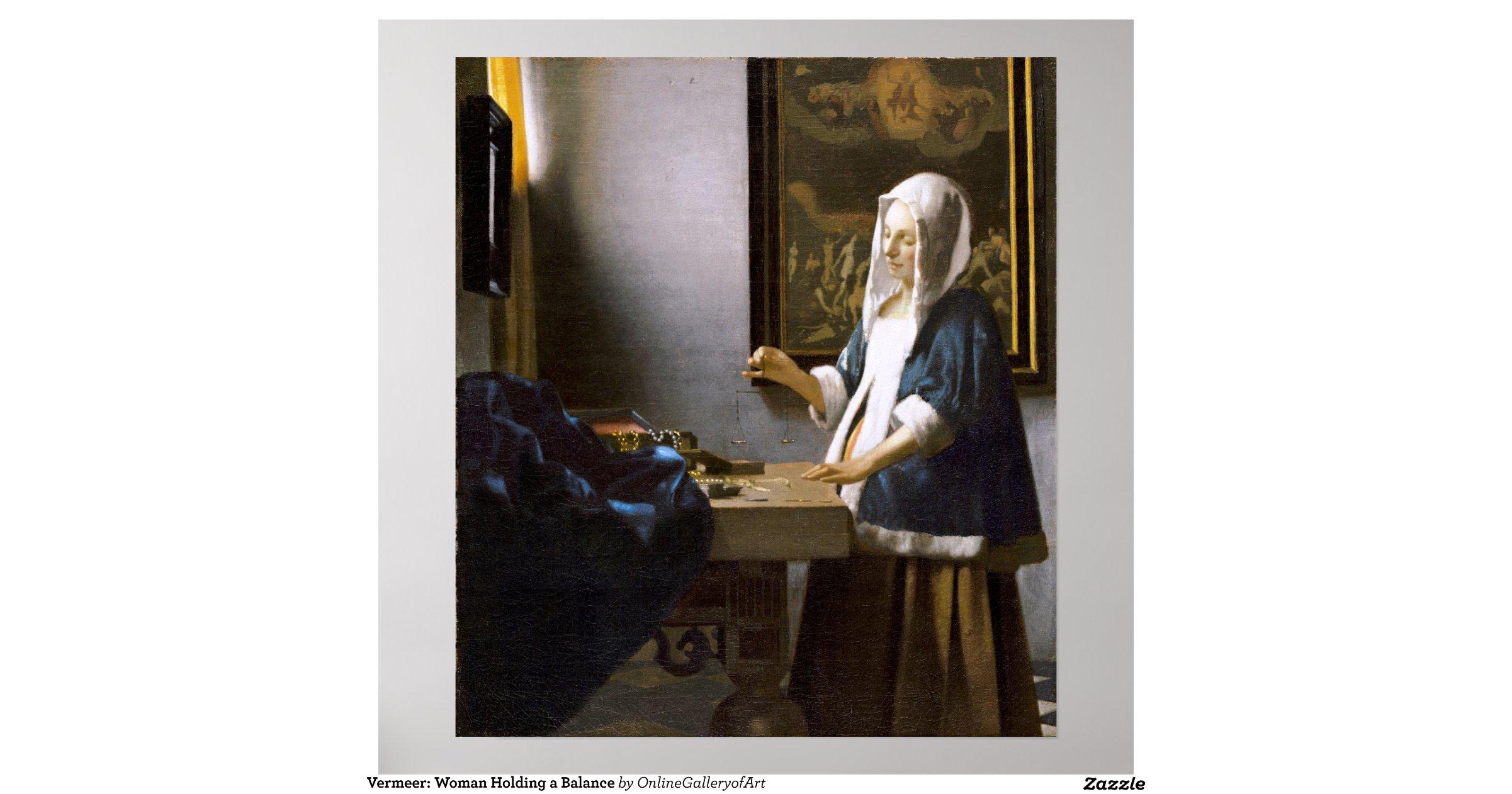 vermeer woman holding a balance poster    Vermeer Woman Holding A Balance