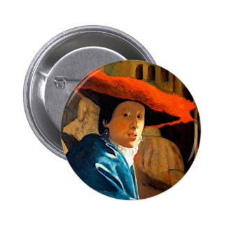 VERMEER'S GIRL WITH THE RED HAT/ OLD MASTERS PIN
