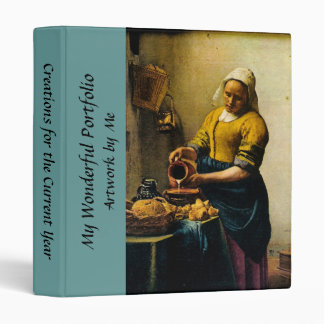 Vermeer's Maidservant Pouring Milk (circa 1660) 3 Ring Binders