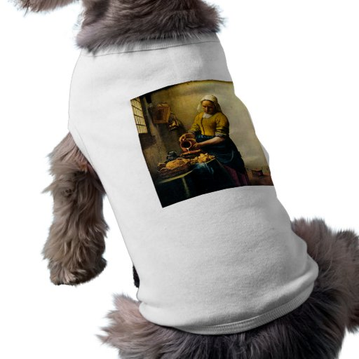 Vermeer's Maidservant Pouring Milk (circa 1660) Dog Clothing