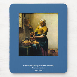 Vermeer's Maidservant Pouring Milk (circa 1660) Mouse Pad