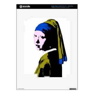 Vermeer's Pearl Earring ala Add BackColor) Decal For iPad 3