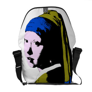 Vermeer's Pearl Earring ala Add BackColor) Messenger Bag